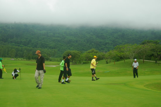 Golf in the Fog :)