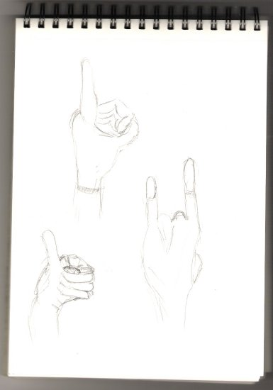 drawing hand fingers