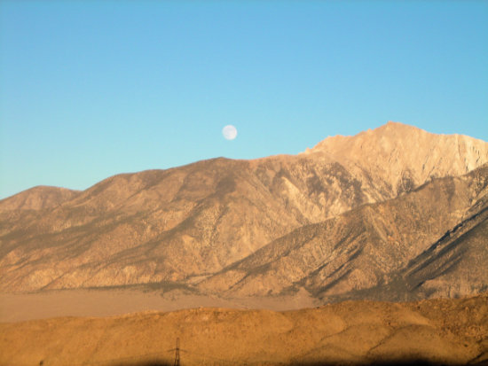 Mountains Moon Nevada Desert West America