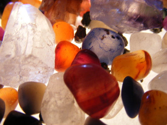 Polished Stones Light Box Close Up dotGALLERY