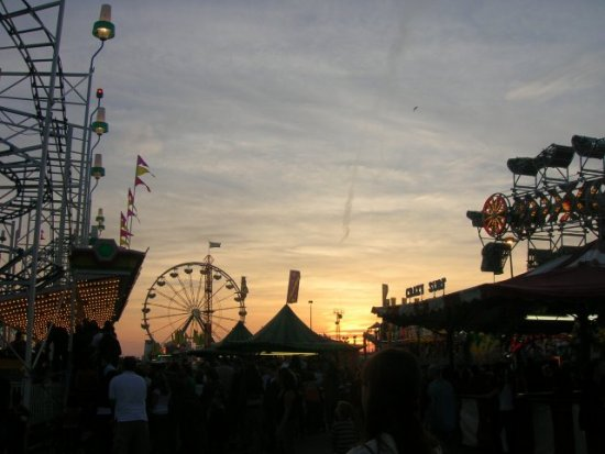 Western Fair at dusk on the last day