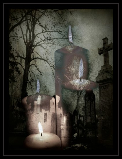 candles graveyard gothicdigitalartclub