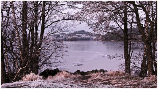 landscape lake sea view winter snow ice sweden