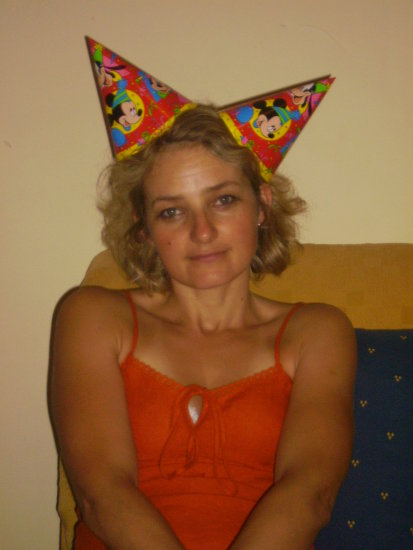 My crazy mum @ my dad's b-day :))