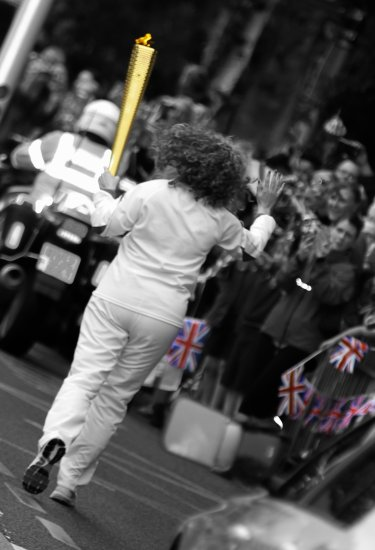 London 2012 Olympic Torch relay Lowton