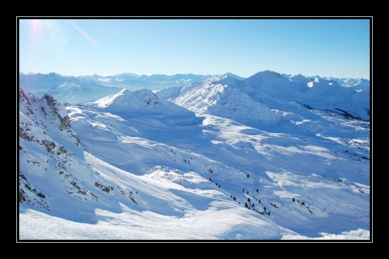 mountains winter snow france alpes