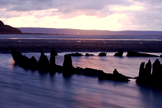 westward ho wreck sunset