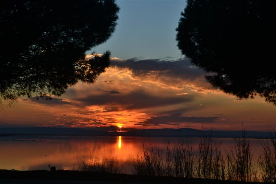 sunset France amazing lakes sea