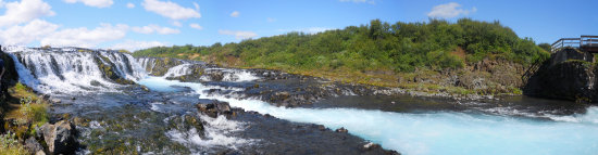 Bruarfoss waterfall panorama