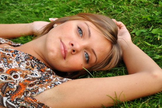 girl woman relax nature