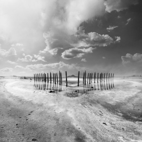 black white landscape beach composition heart shapes classic keitology