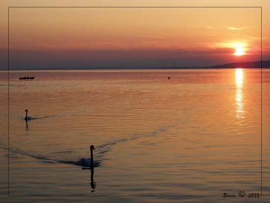 sunset balaton lake