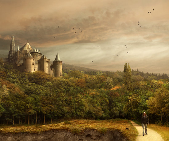autumn castle forest photomontage fantasy haarlem hilversum muiden