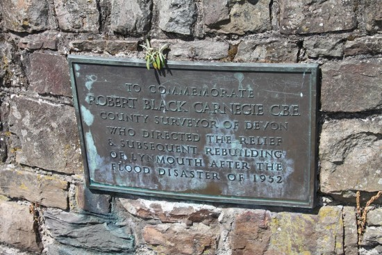 england lynmouth objects plaques