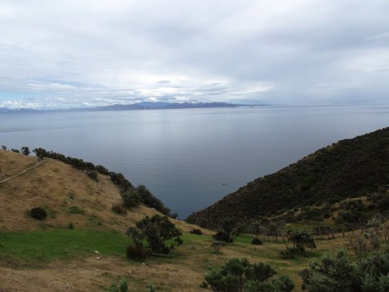 Looking from the bottom of the North Island Down to the top of the South Island.  Approx, 22km at...