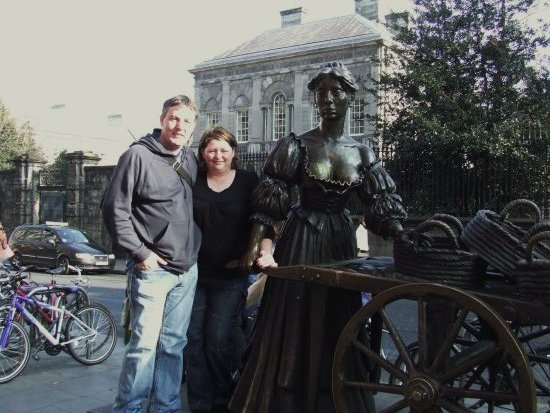 the oneill's meet molly malone dublin with a view of trinity college behind