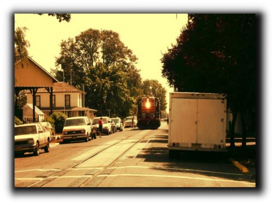 Train runs through Junction city. Taken last summer.