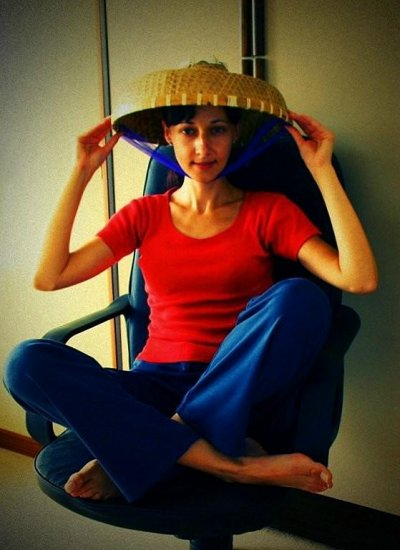 NEW WEEK - NEW HAT !!!!!!!!!!!!!!!  how about this lampshade ??? :-))  i won't you to get b...