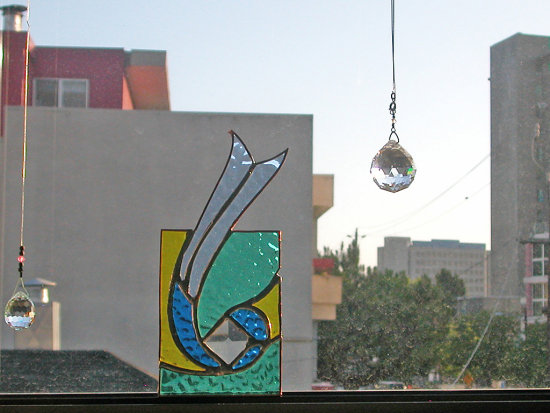 city stainedglass glass gift skyline oakland art curves mailartfph