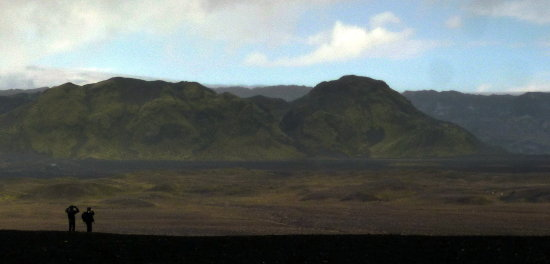Lunar landscape in Iceland --- in 1967 - the guys that went to the moon -- came first to Iceland ...