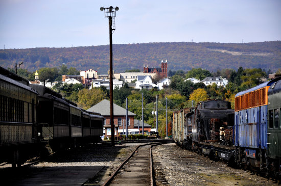 steamtown scranton pennsylvania railroad train view