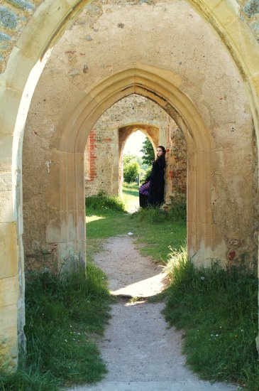 The Gothic Look Set up in the Ruins of St Peter's Church Alresford Essex 