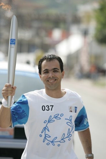 Athens 2004, Olympics, running for the 'Torch Relay', North of Greece