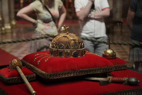 Crown Sceptre Stephen Budapest Hungary Parliment