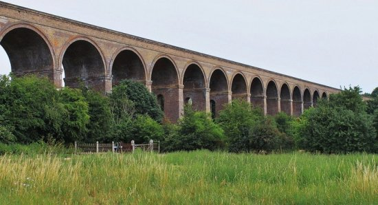 """The Chappel Viaduct, in the north Essex Colne Valley, is a designated grade one European monumen..."