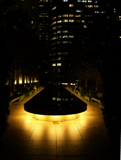 night light reflection pool