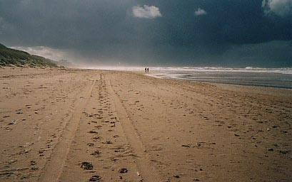 beach thunderstorm northsea holland