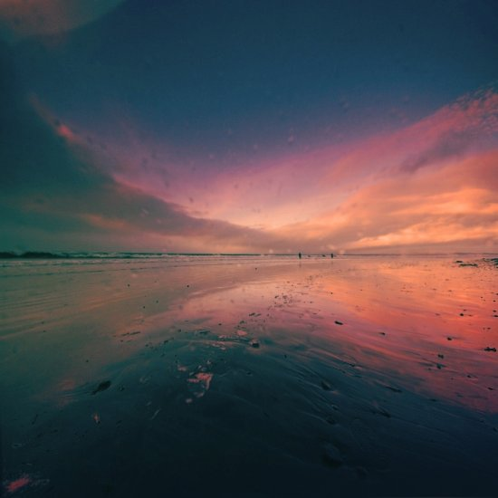 wide angle inch beach sunset raindrops colours dreamy view keitology