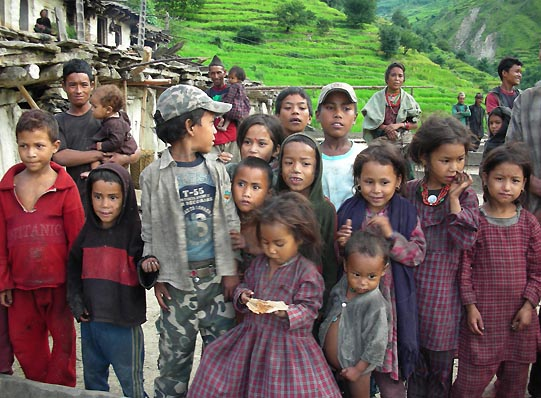 kids poverty nepal