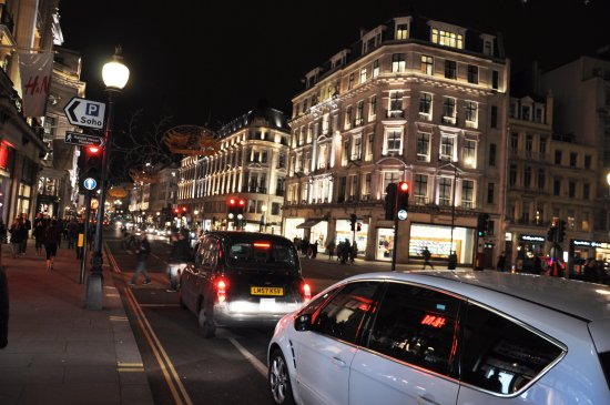 london regent street nightshot nikon d90