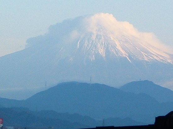 morning mist in Mt Fuji