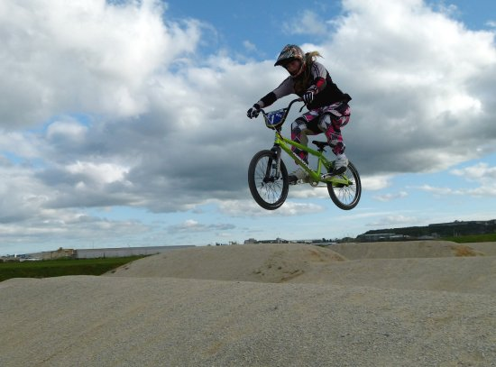 bmx racing race jump extreme girl teenager