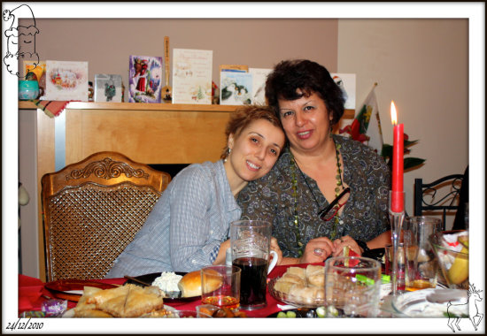 me and my mum christmas time