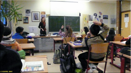 Views from the classroom  Wednesday I've got help, students from the University doing practica...