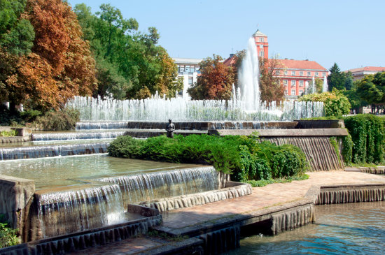 Pleven city bulgaria architecture fountains park nikon sigma