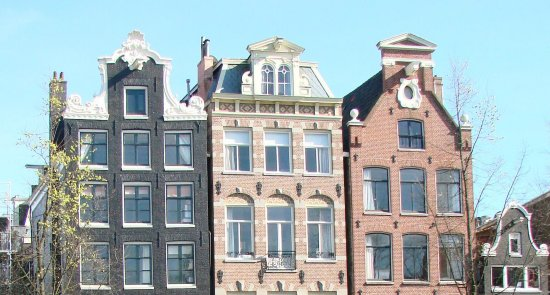 Holland Amsterdam Brouwersgracht gables architecture