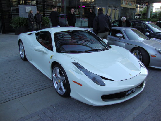 Exotic Sports Car Ferrari At Maple Leaf Square Toronto,Ont.,On Saturday,May  25,2013