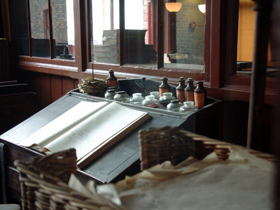 6/6 Preserved office at the Jackfield Tile Museum