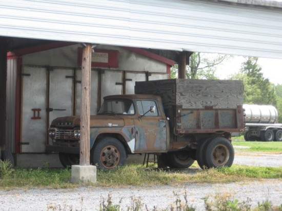 old, stored farm truck