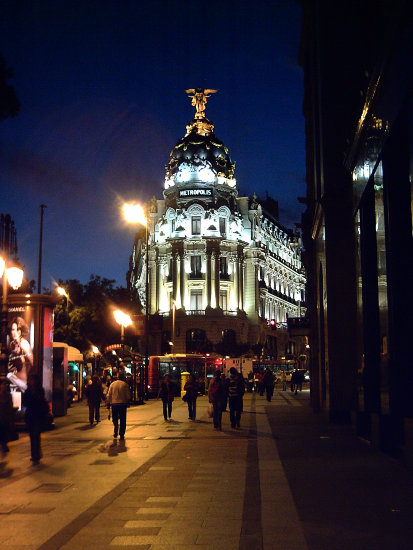 Europe Spain Madrid BuildingsinMadrid Buildings Night Streets