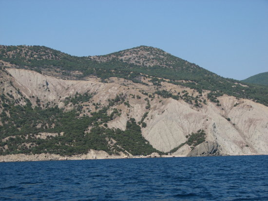 sea rocky mountains Crimea Balaklava