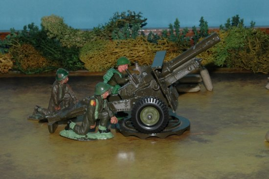 Toy soldiers 25pdr field gun ww11