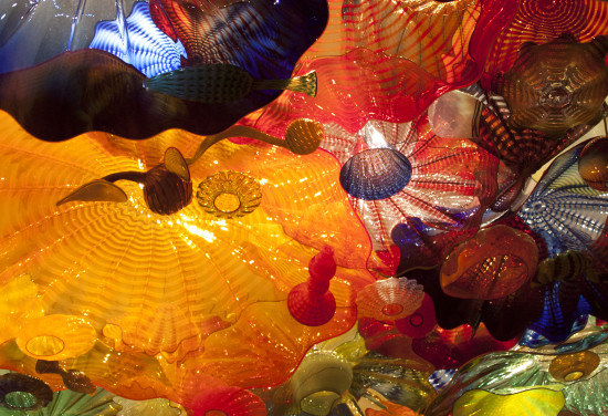 another shot of the ceiling.  Chihuly Glass