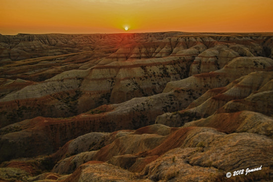 badlands southdakota sunset