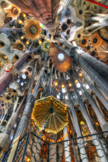 HDR Architecture Cathedral Barcelona Gaudi