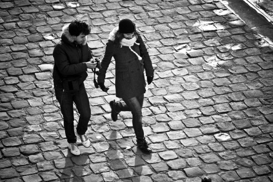 couple people paris france